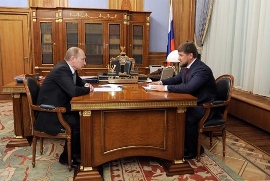 Putin meets Kadyrov