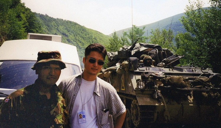 Entering Kosovo with British Army Gurkhas