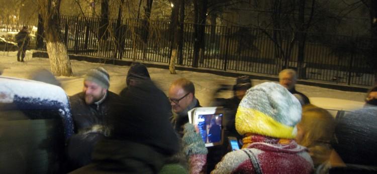 Impromptu Navalny vigil